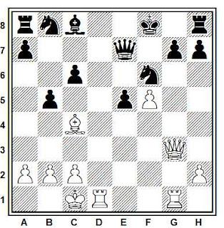 Problema ejercicio de ajedrez número 707: Bishniazky - Pereboznikov (URSS, 1950)
