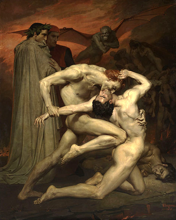 William Bouguereau, Macabre Art, Macabre Paintings, Horror Paintings, Freak Art, Freak Paintings, Horror Picture, Terror Pictures