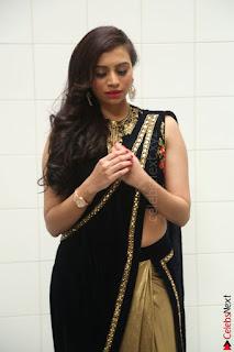 Priyanka Ramana in Beautiful Designer Black Saree At We Craft Elegance Expo Launch 013.JPG