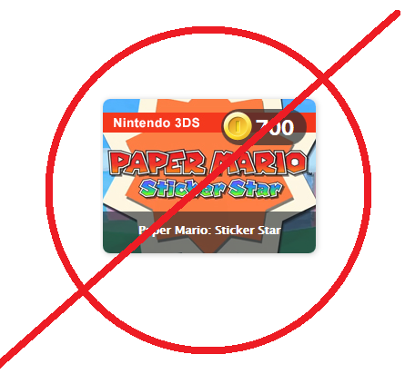Do not get Paper Mario: Sticker Star with Club Nintendo coins!