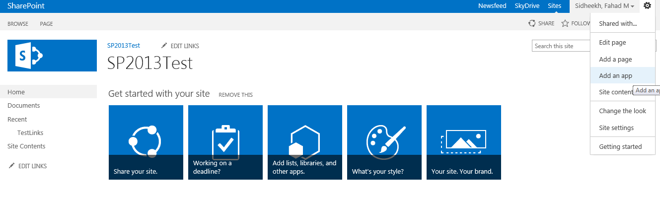 SharePoint PitStop: How to create Custom Metro Tiles on your