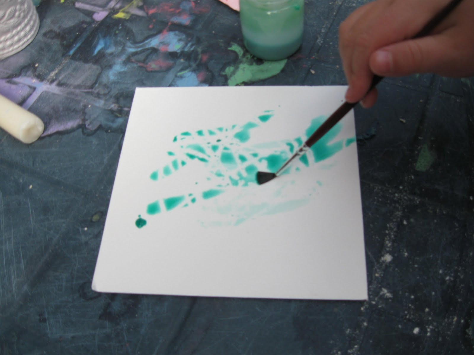 This Activity Involved Us Marking Our Card With White Crayons Then Painting Over Liquid Watercolour Paint And Watching The Magic As What We Had Drawn