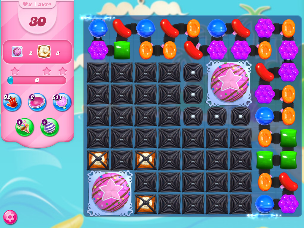 Candy Crush Saga level 3974