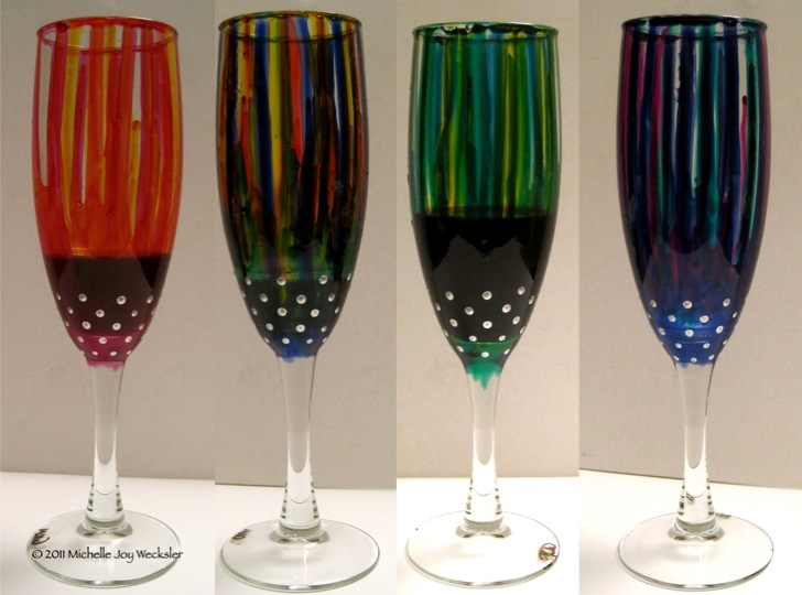 figments of my imagination out on a whim painted champagne flutes. Black Bedroom Furniture Sets. Home Design Ideas