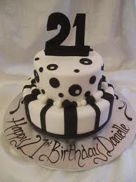 21st Birthday Cakes 21st Birthday Cakes With White Black Color
