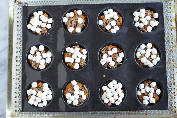 sweet potato casserole cups with JET-PUFFED Marshmallows