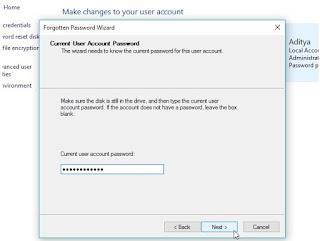 Cara membuat password reset disk windows 10
