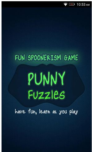 Punnyfuzzle fun with words an android app for kids january 2017 the punnyfuzzle offers fun with word learning and a problem solving game that helps to improve english vocabulary learning english words become easy with ccuart Image collections