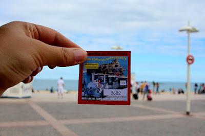Ticket du petit train touristique de Biarritz