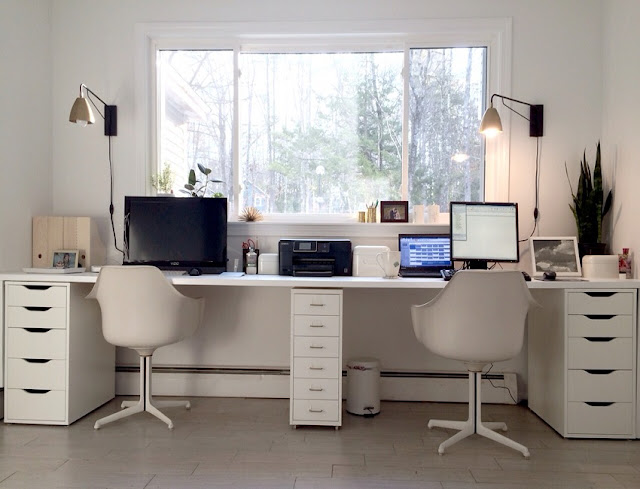 buying cheap double desk home office ikea for sale