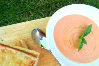 Summery Gazpacho with Crostini