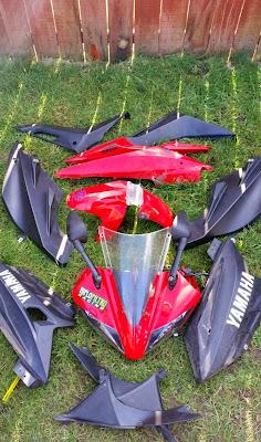 Yamaha YZF R125 fairing kit complete plastics