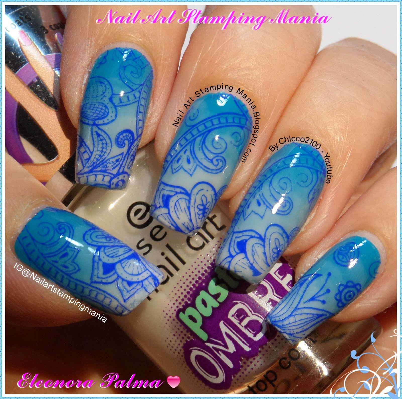 Nail Art Stamping Mania Essence Pastel Ombr 233 Swatches And Review