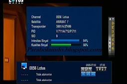 Cara tracking satelit asiasat 7 cband - 105.5E