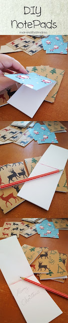 DIY Christmas (or any other themed) notepads