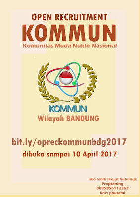 Open Recruitment 2017: KOMMUN Wilayah Bandung