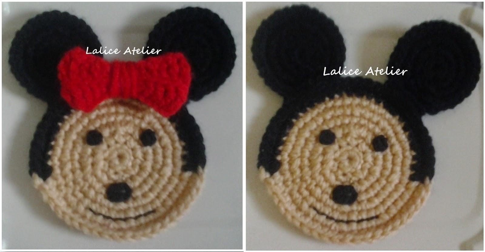porta copos personalizados,coasters minnie, coasters mickey, coasters, bichinhos crochê