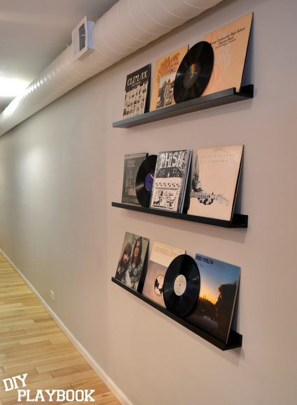 Record album wall