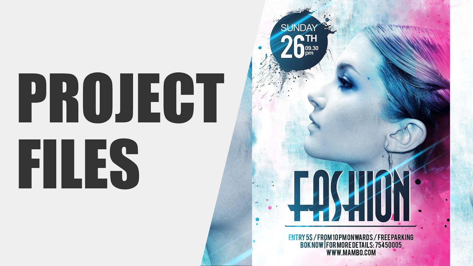 Marvelous Fashion Flyer Design | Fashion Poster Design | Photoshop Tutorial | Click3d  | Project Files To Fashion Poster Design
