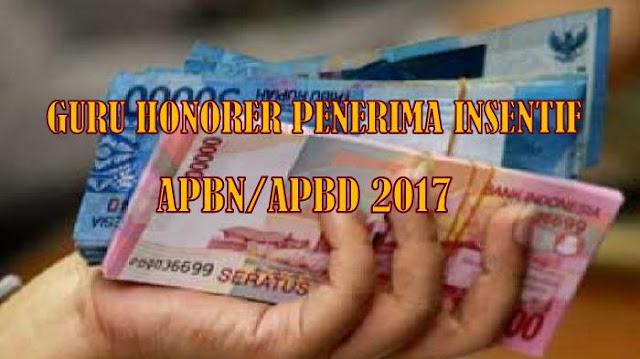 Berikut Kriteria Guru Honorer Penerima Insentif dari APBN/APBD Tahun 2017