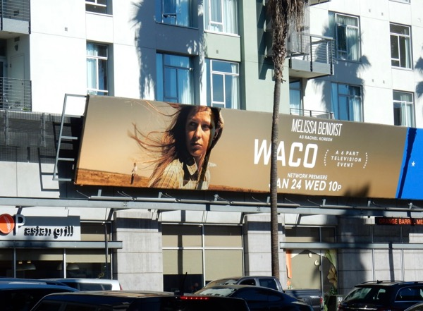 Waco miniseries billboard