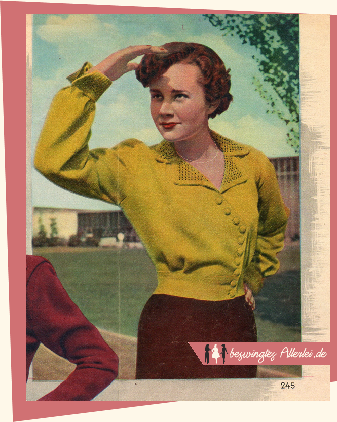 Free Vintage Knitting Patterns 1950s : The Vintage Pattern Files: 1950s Knitting - Strickjacke mit Perlmuster