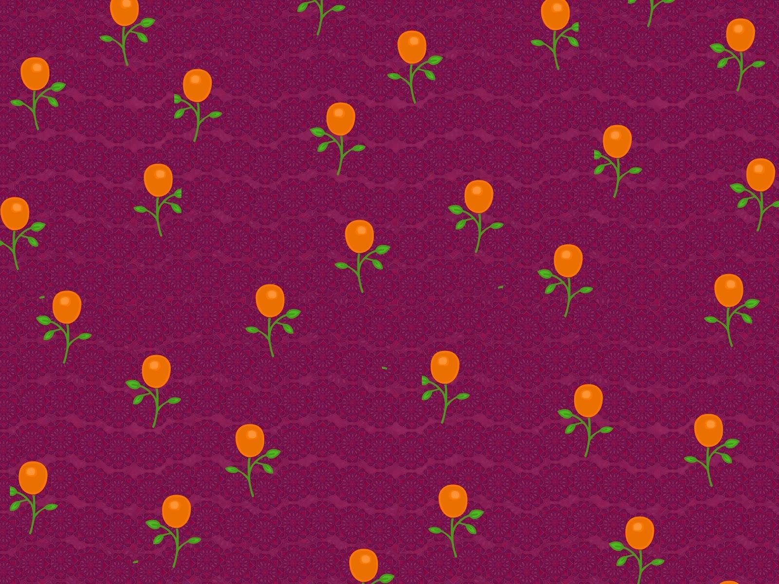 violetter Hintergrund mit Blümchen