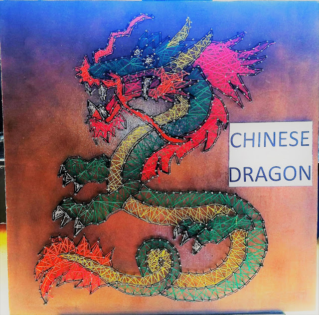 string art Chinese dragon