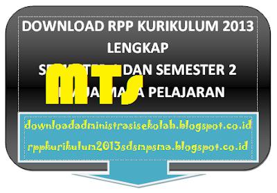 Download RPP SKI Mts Kelas 8 Kurikulum 2013 Semester 1 dan 2