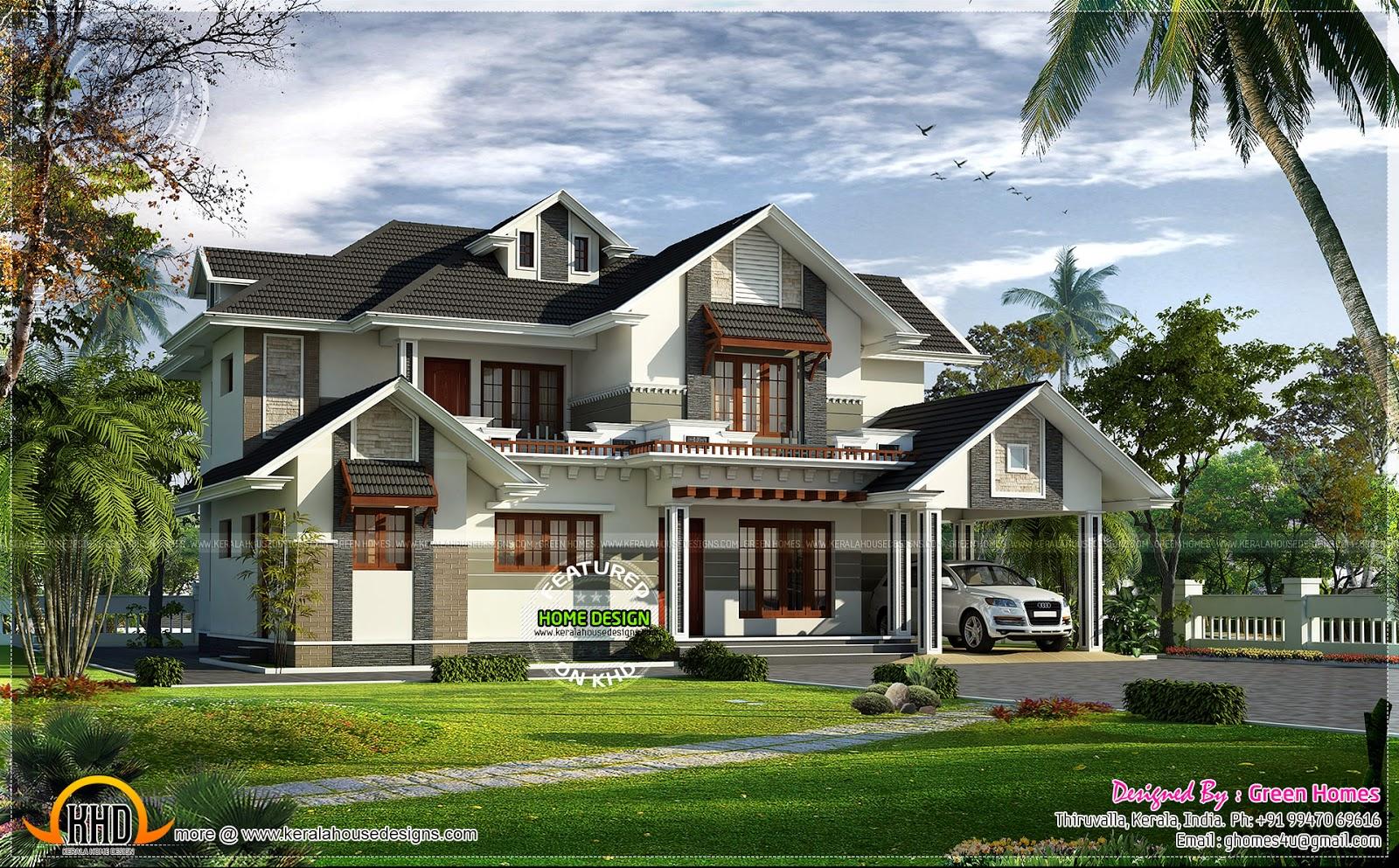 Thiruvalla Home Design Amazing Interior Green