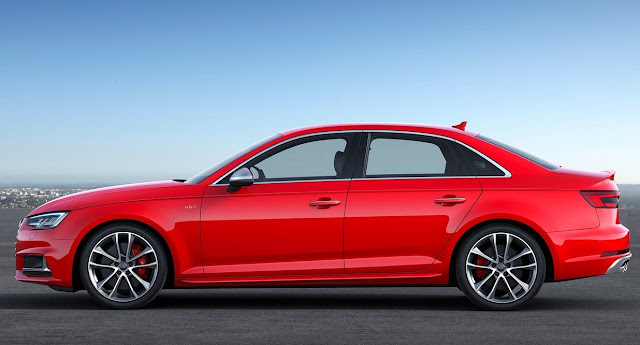 2017 Audi S4 red