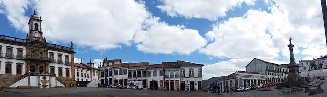 Praça Tiradentes, Ouro Preto, a partir da FIEMG