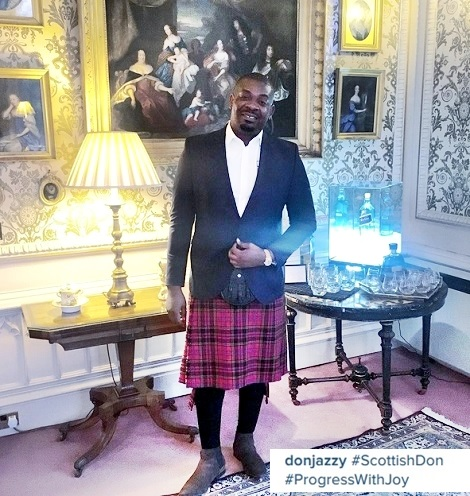 From Lagos to Scotland: Don Jazzy & Actor RMD Spotted Wearing Women's Outfit (Photos