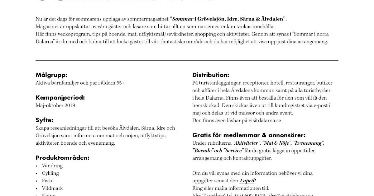 älvdalens Näringslivskontors Blogg Magasin Norra Dalarna Hjälp
