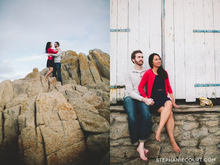 engagement photos in monterey