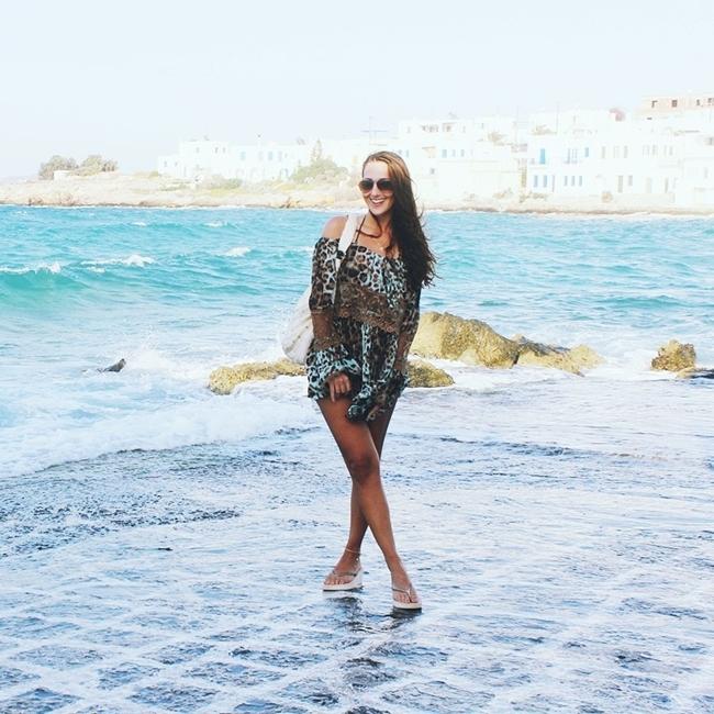 Jelena Zivanovic Instagram @lelazivanovic.Glam fab week.Naoussa port,Paros,Cyclades,Greece.