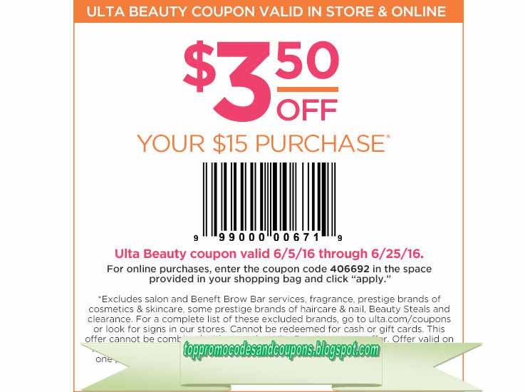 image relating to Printable Cosmetic Coupons called Cost-free Promo Codes and Coupon codes 2019: Ulta Coupon codes