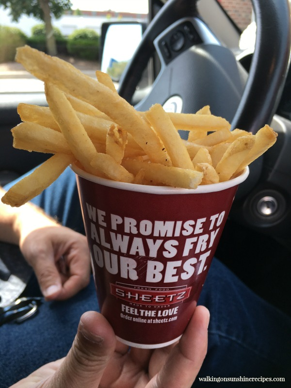 The best French fries from Sheetz featured on Walking on Sunshine Recipes.