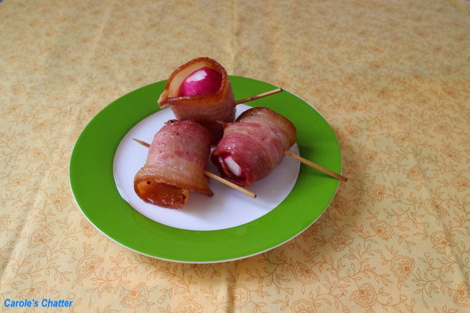 Carole's Chatter: Bacon wrapped radishes