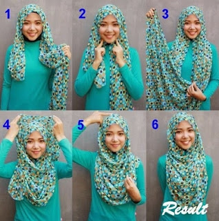 Contoh model hijab pashmina simpel