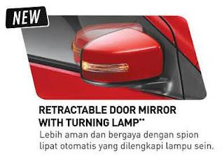 Retractable Door MIrror With Turning Lamp