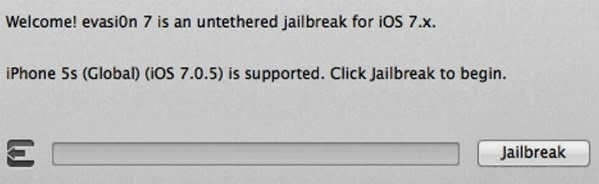 Jailbreak iOS 7.0.5 Firmware via Evasi0n7