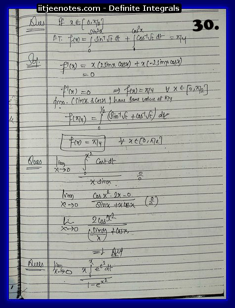 definite integrals notes9