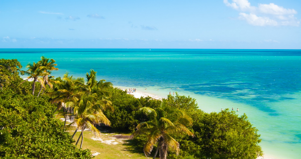 Beautiful natural landscape in the State of Bahia Honda, Florida