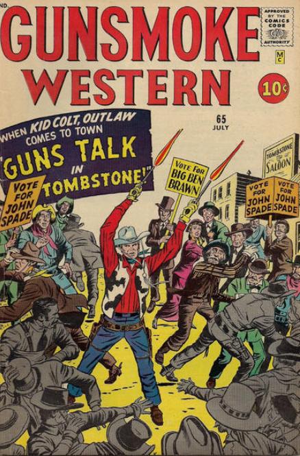 Jack Kirby Gunsmoke Cover