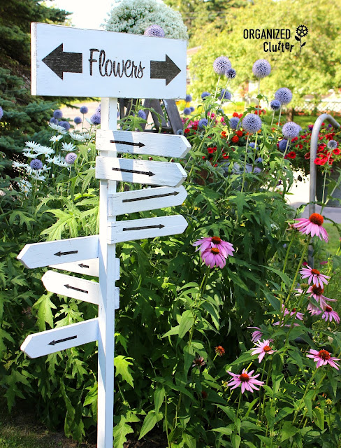 Flowers Everywhere Directional Sign organizedclutter.net