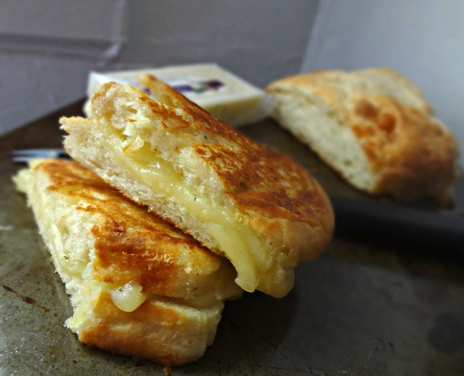 The Cooking Actress Garlic Herb Ciabatta Grilled Cheese Great Midwest Flavored Cheeses Review