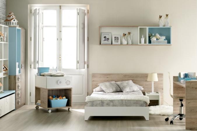dormitorio infantil muebles ros