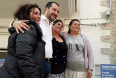 Clan Rom faceva campagna elettorale per Salvini