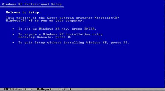 Cara Install Windows XP Yang Baik dan Benar